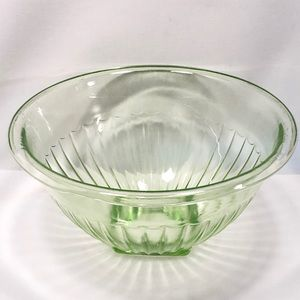 Vintage Green Depression Glass Mixing Bowl
